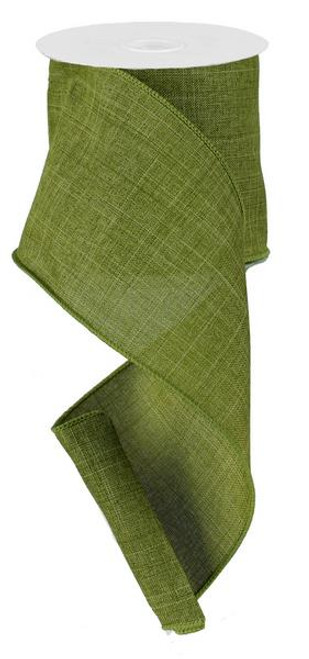 "Moss Green Royal Faux Burlap Ribbon - 4"" x 10Yd"
