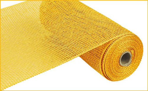 "10"" x 10yds Poly Burlap Mesh: Yellow"