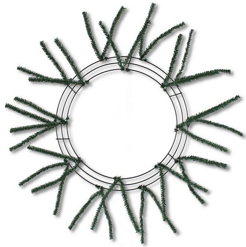 "10-20"" Small Pencil Work Wreath Form: Natural Green"