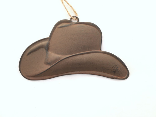 Rustic Tin Cowboy Hat Ornament