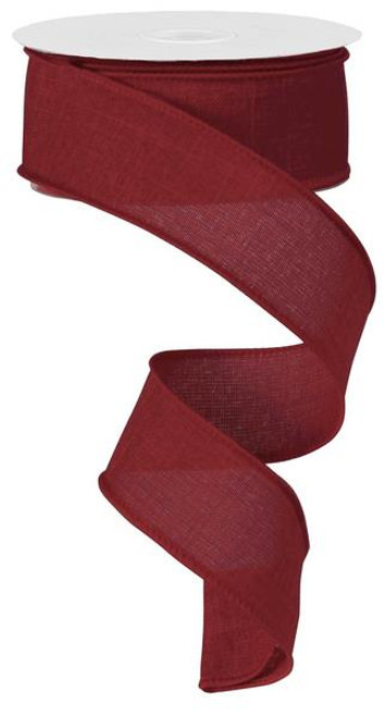 "Burgundy Royal Faux Burlap Ribbon - 1.5"" x 10Yd"