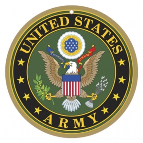 "10"" round Army Logo Wooden Sign"