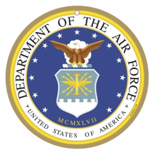 "10"" round US Air Force Logo Wooden Sign"