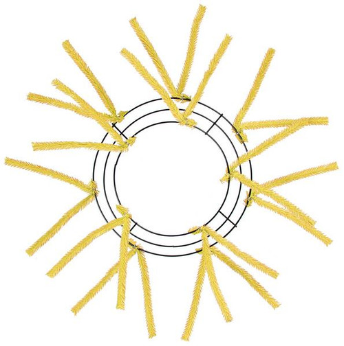 "10-20"" Small Pencil Work Wreath Form Yellow"