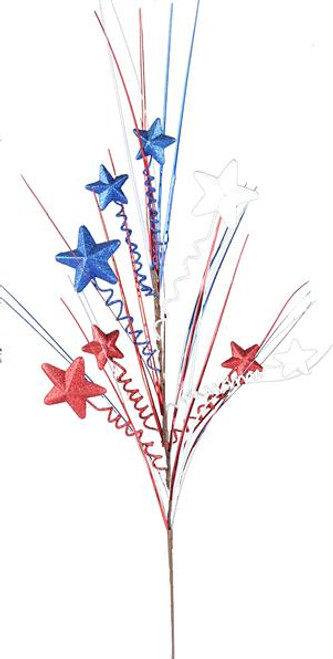 "30"" Patriotic Star/Grass/Curl Spray"