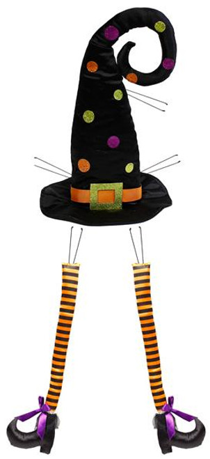 Polka Dot Witch Hat and Legs Kit