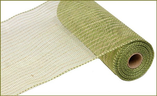 "10.5"" Poly Jute Mesh: Moss/Apple Green"