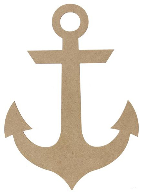 """12"""" Wooden Anchor, Unfinished"""