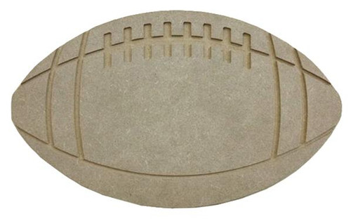 "11"" Wooden Football, Unfinished"