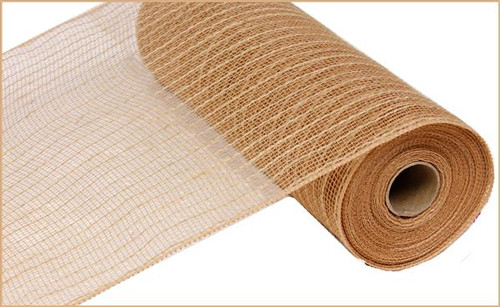 "10"" Poly Jute Deco Mesh: Natural"