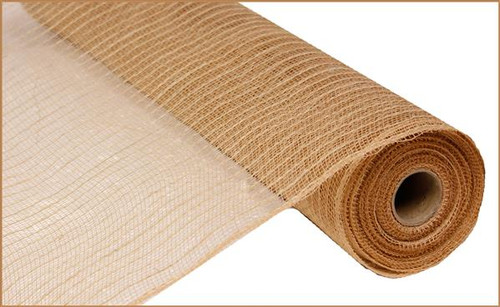 "21"" Poly Jute Deco Mesh: Natural"