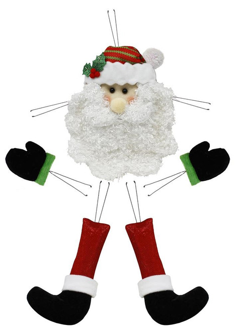 5 Piece Plush Santa Wreath Kit