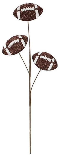 "24"" Glitter Triple Football Pick"