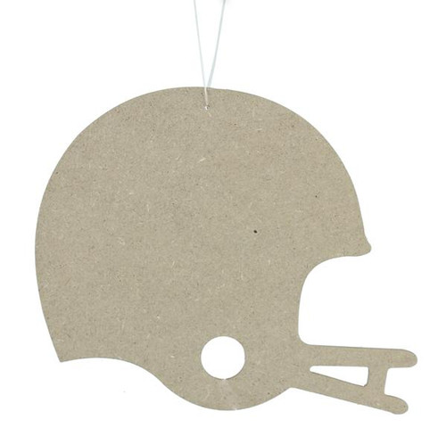 "9.75"" Wooden Football Helmet Cutout"