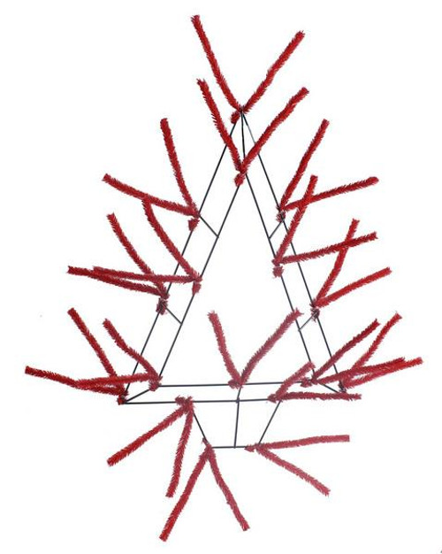 "20"" Pencil Open Tree Work Form Red"