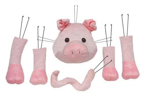 Plush Pig Decor Wreath Kit
