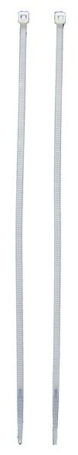 "8"" X 2.7mm White Zip Ties, 500 count"