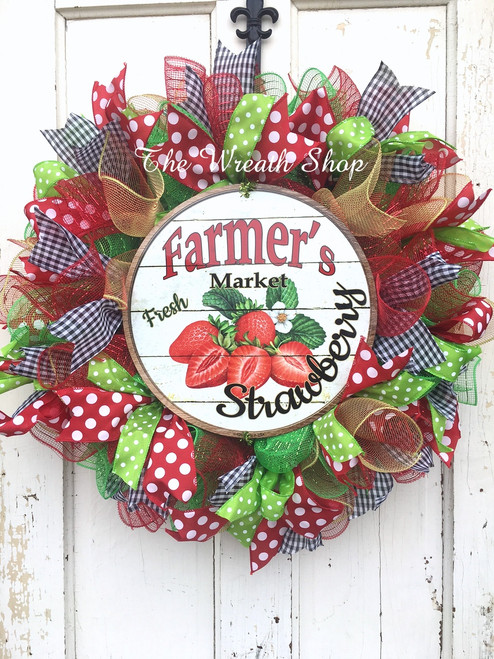 Summer Strawberry Wreath