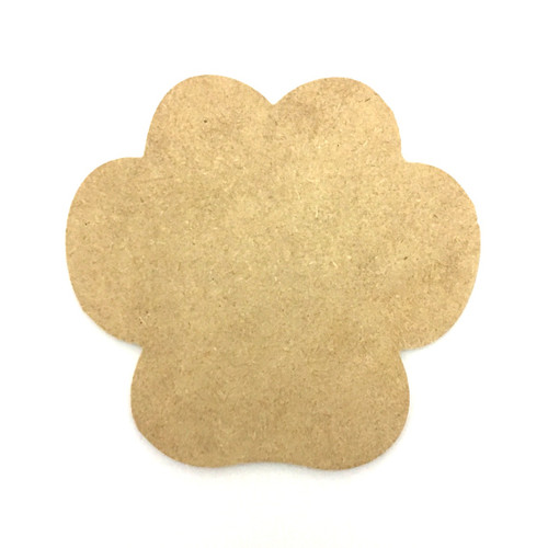 "4"" Paw Print Cutout, Unfinished"