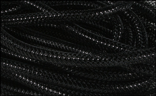 Metallic Deco Flex Tubing: Black with Black Foil - 8mm