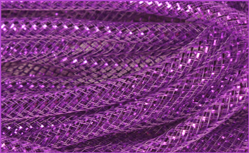 Metallic Deco Flex Tubing: Purple with Purple Foil - 8mm