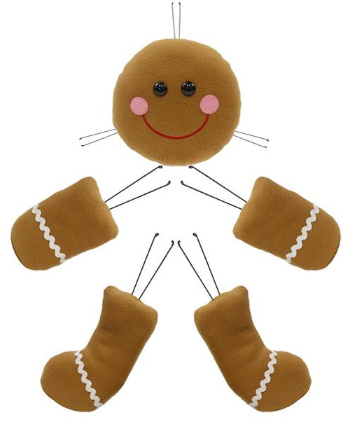 Gingerbread Man Wreath Kit