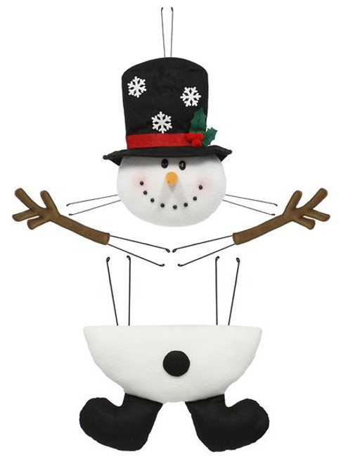 Snowman Wreath Decor Kit