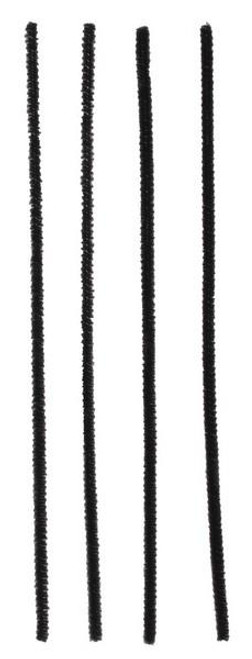 "12"" x 6mm Chenille Stems: Black (100)"