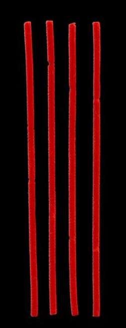 """12"""" x 6mm Chenille Stems: Red (100)"""