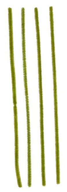 "12"" x 6mm Chenille Stems: Moss Green (100)"