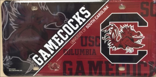 South Carolina Gamecocks Deluxe Novelty License Plate