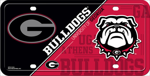 University of Georgia Bulldogs Deluxe Novelty License Plate