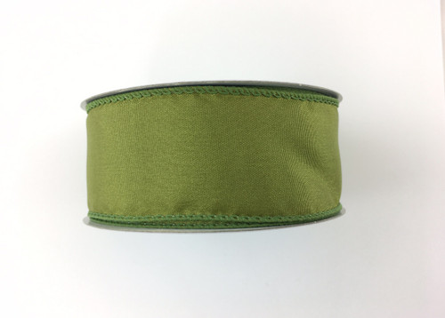 """1.5"""" Solid Moss Green Satin Ribbon Wired - 10Yds"""