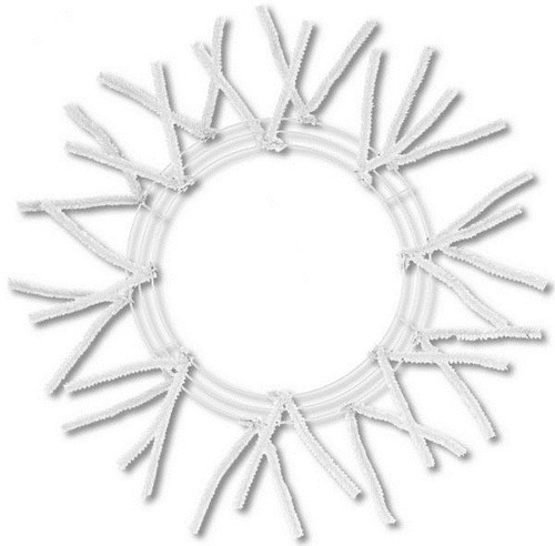 "20-30"" Pencil Work Wreath Form: White"