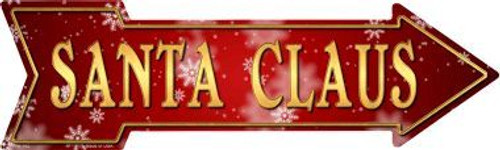 Santa Claus Arrow Sign