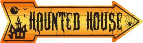 Haunted House Arrow Sign