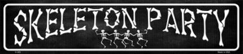 "18"" Skeleton Party Street Sign"