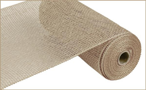 "10"" x 10yds Poly Burlap Mesh: Natural"