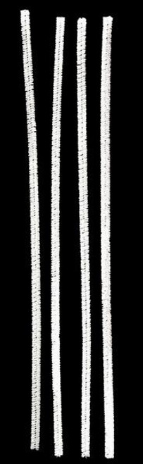 "12"" x 6mm Chenille Stems: White (100)"
