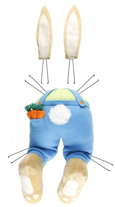 Blue Boy Bunny Bottom/Ears Kit