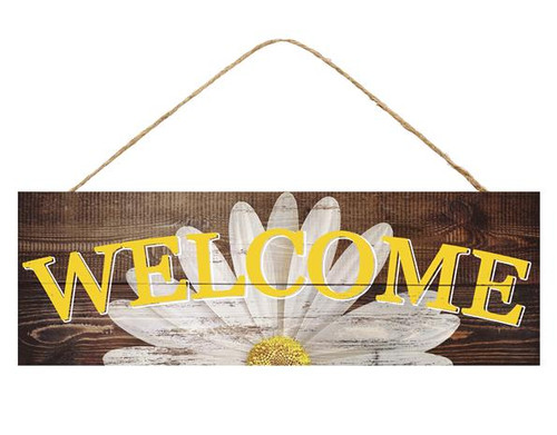 "15"" Welcome Daisy Sign"