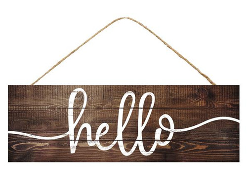 "15"" Rustic Hello Sign"