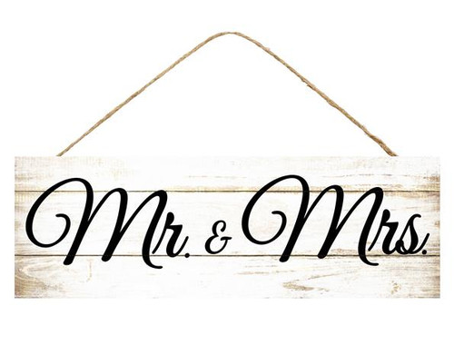 "15"" Rustic White Mr. & Mrs. Sign"