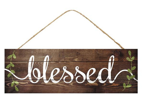 "15"" Rustic Blessed Sign"