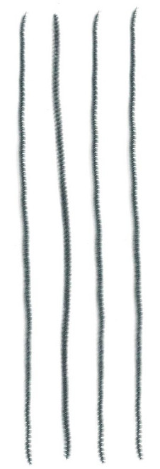 "12"" x 6mm Chenille Stems: Grey (100)"