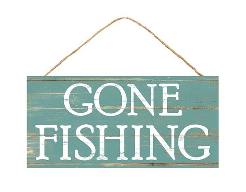 "12.5"" Gone Fishing Sign"