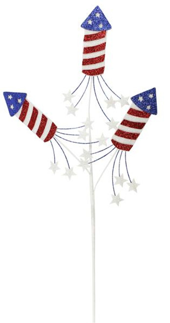 "25"" Patriotic Firecracker Pick x 3"