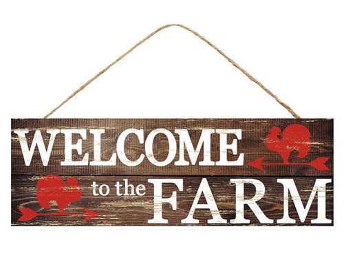 "15"" Welcome to the Farm Sign"
