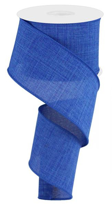 "Royal Blue Royal Faux Burlap Ribbon - 2.5"" x 10Yd"