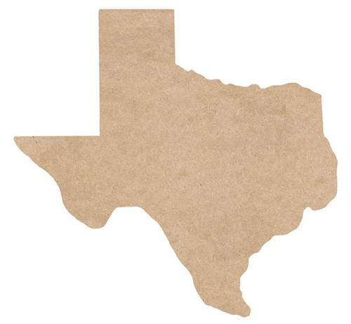 "12"" State of Texas Shape, Unfinished"